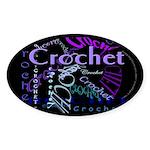 Crochet Purple Oval Sticker