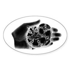 Inverted Boa in my hand Oval Decal