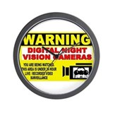 Warning Night Vision Wall Clock