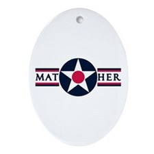 Mather Air Force Base Oval Ornament