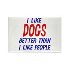 I Like Dogs Rectangle Magnet (10 pack)