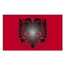 Albanian Rectangle Decal