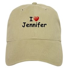 I Love Jennifer (Black) Baseball Cap