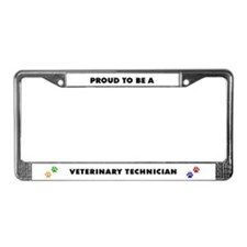 Proud to be a Vet Tech License Plate Frame