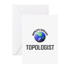 World's Coolest TOPOLOGIST Greeting Cards (Pk of 1