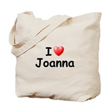 I Love Joanna (Black) Tote Bag