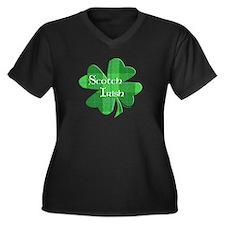 Scotch Irish Shamrock Women's Plus Size V-Neck Dar