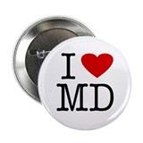 I Love Maryland (MD) Button