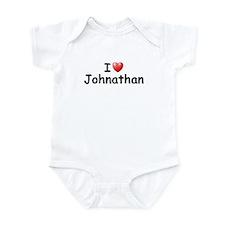 I Love Johnathan (Black) Infant Bodysuit