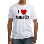 I Love Kansas City (Front) Fitted T-Shirt