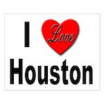 I Love Houston Small Poster