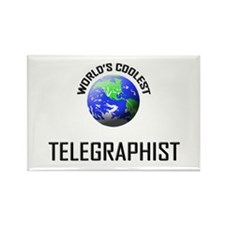 World's Coolest TELEGRAPHIST Rectangle Magnet