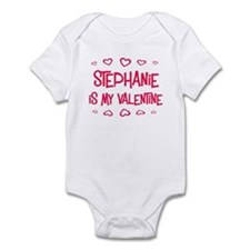 Stephanie is my valentine Infant Bodysuit