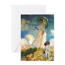 Umbrella / Ger SH Pointer Greeting Card