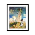 Umbrella / Ger SH Pointer Framed Panel Print