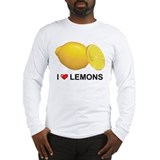 I Love Lemons Long Sleeve T-Shirt