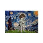 Starry Night /German Short Rectangle Magnet (10 pa