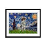 Starry Night /German Short Framed Panel Print