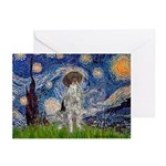 Starry Night /German Short Greeting Cards (Pk of 2