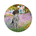 Garden/German Pointer Ornament (Round)