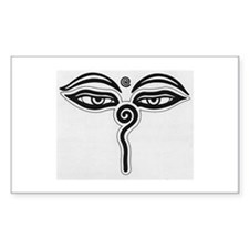 Buddha Eyes Rectangle Decal