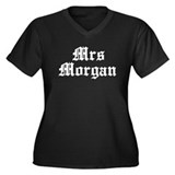 Mrs morgan Women's Plus Size V-Neck Dark T-Shirt