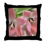 Pink Tulips In Bloom Throw Pillow