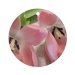 Pink Tulips In Bloom Ornament (Round)