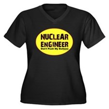 Nuclear Engineer Women's Plus Size V-Neck Dark T-S