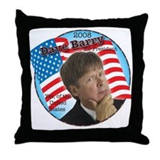 Dave Barry For President  Throw Pillow