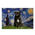 Starry-Am.Staffordshire (blk) Postcards (Package o