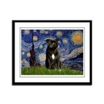 Starry-Am.Staffordshire (blk) Framed Panel Print