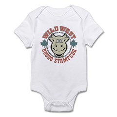 Retro Cow Infant Creeper