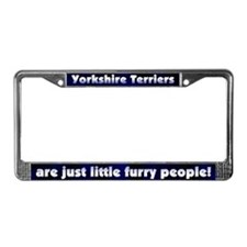 Furry People Yorkshire Terrier License Plate Frame