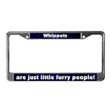 Furry People Whippet License Plate Frame