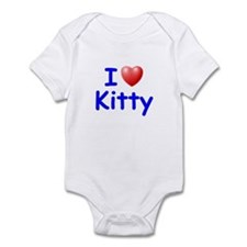 I Love Kitty (Blue) Infant Bodysuit
