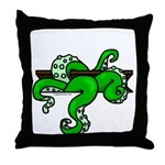 Cthulhu tentacles from pit Throw Pillow