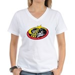 Shuttle STS-123 Women's V-Neck T-Shirt