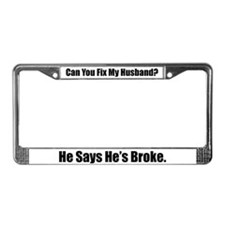 Cute Funny valentines License Plate Frame