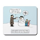 """Greedy Frosty"" Mousepad"