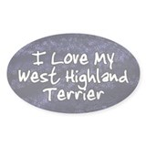 Funky Love West Highland Terrier Oval Decal