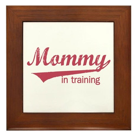 Mommy in Training Framed Tile
