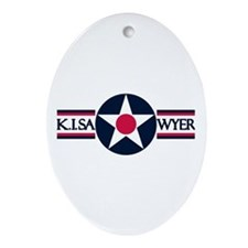 K. I. Sawyer Air Force Base Oval Ornament