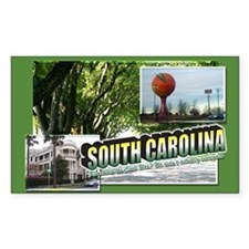 South Carolina Rectangle Decal