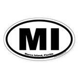 Marco Island, Florida MI Oval Decal