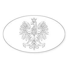 Polish Eagle (Polski Orzel) Oval Stickers