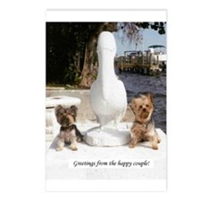 Yorkie Couple Postcards (Package of 8)