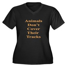 Animals Don't Cover Their Tra Women's Plus Size V-