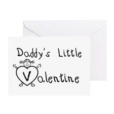 Daddy's Valentine (girl) Greeting Card