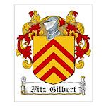 Fitz-Gilbert Family Crest Small Poster